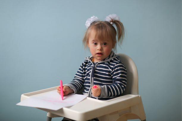 ダウン症候群(トリソミー21)のお子さんのお写真